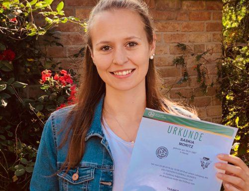Qualifizierungsoffensive geht weiter – Saskia Moritz erhält DFB-Trainer-C-Lizenz!