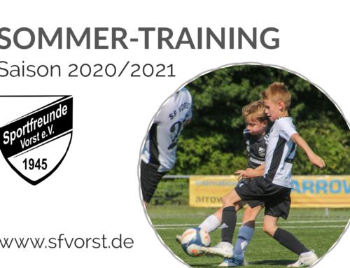 Jugend-Teams im Sommer-Training