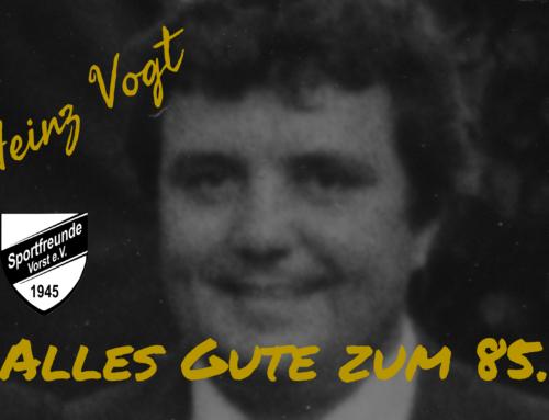 Herzlichen Glückwunsch, Heinz Vogt zum 85. Geburtstag!