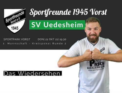 Bezirksligist Uedesheim kommt mit der Favoritenrolle nach Vorst